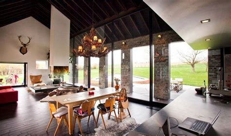 lada industriale vintage rustic farmhouse in belgium will get a glassy modern