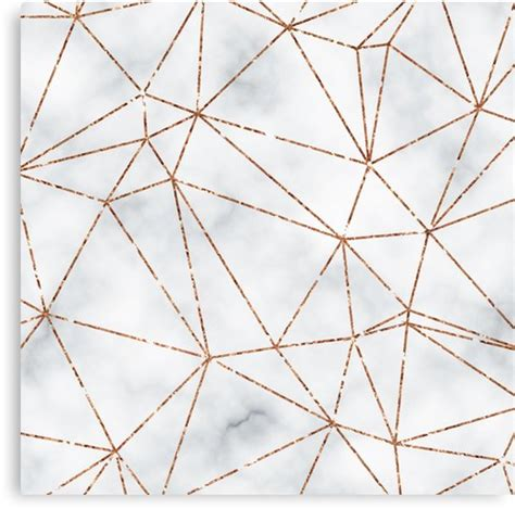 home design gold for pc quot marble geometric rose gold design quot canvas prints by