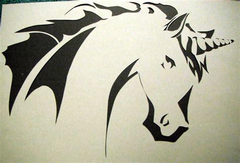 unicorn carving pattern unicorn stencil by theslushie on deviantart