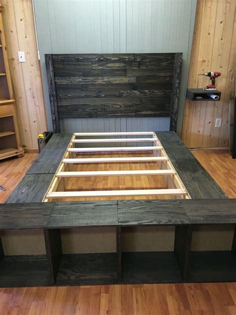 platform bed  pallet headboard  creations