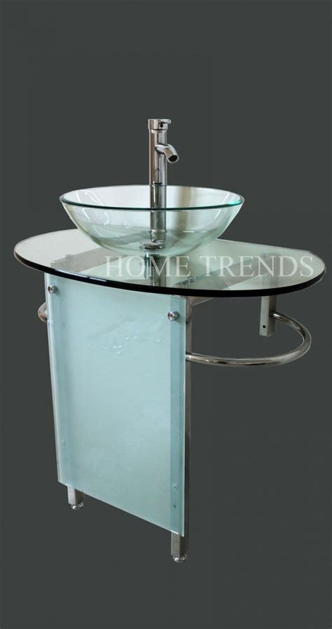 Bathroom Vanity Combo Set 30 Quot Wide Stainless Pedestal Glass Bowl Vessel Bathroom