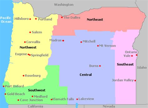 map of oregon regions map of oregon wine regions images