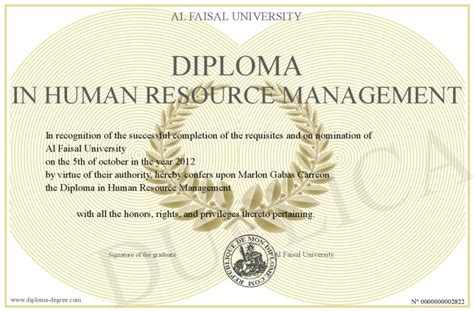Mba Degree In Human Resources Management by Diploma In Human Resource Management