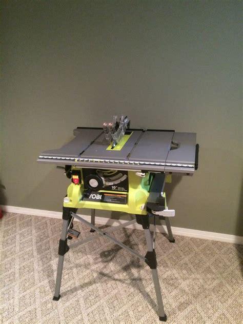 ryobi table saw blade size ryobi 10 portable table saw with stand rts21g tool