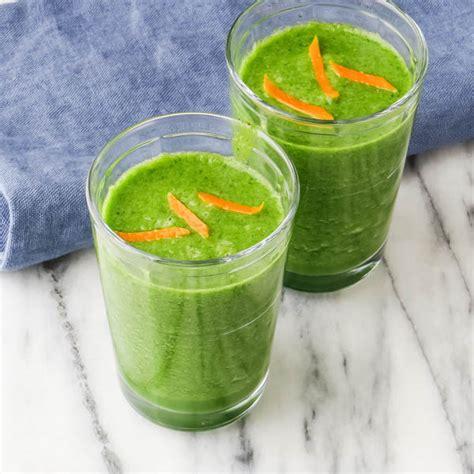 Orange Banana Detox Smoothie by Orange And Green Detox Smoothie Garlic Zest