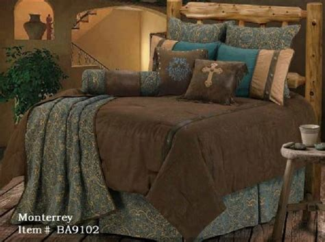 western bedspreads and comforters great sale western bedding turquoise and beige mosaic 5