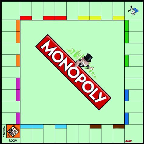 blank monopoly game board by nic dooley teaching