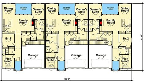 Three Family House Plans by 3 Family House Plan With Covered Porches 42511db
