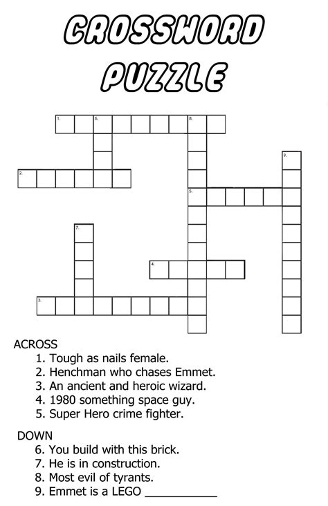 easy crossword puzzles with hints printable easy crossword puzzles for beginners pages to