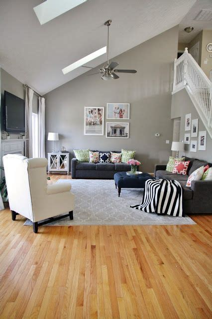 gray living room with pops of pattern and color gray