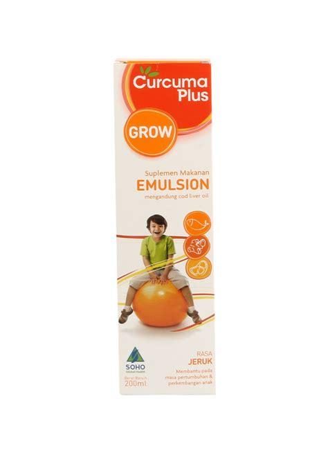 Minyak Ikan Curcuma Plus curcuma plus suplemen makanan emulsion jeruk btl 200ml