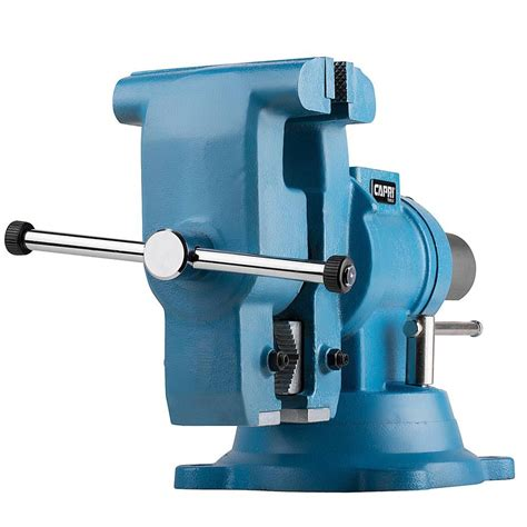 rotating bench vise capri tools 5 in rotating base and head bench vise