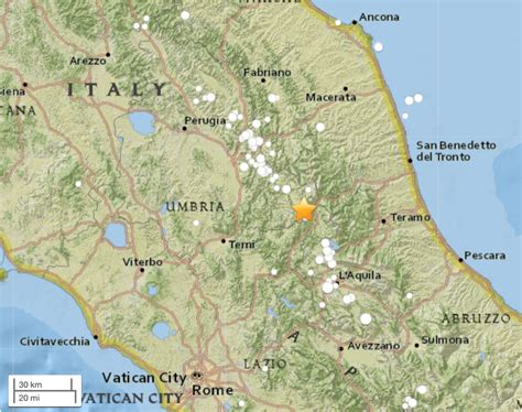 italy earthquake map m 6 2 earthquake strikes central italy 35 km of the