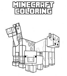 minecraft images to color free coloring pages of minecraft box
