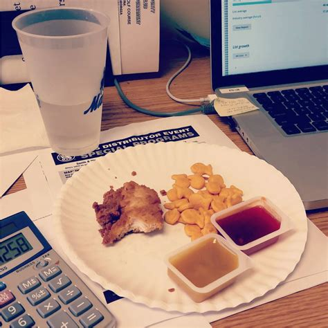 Lunch Desk by 15 Sad Desk Lunches That Will Make You Feel Better About Your Brown Bag Saddesklunch