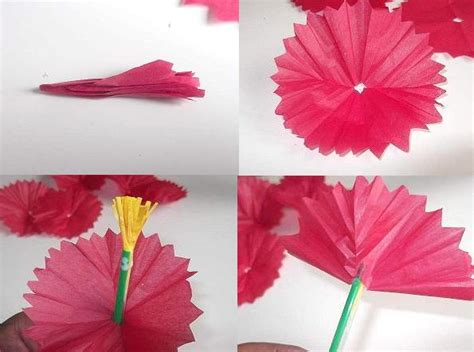 How To Make Kite Paper Flowers - make tissue paper flowers