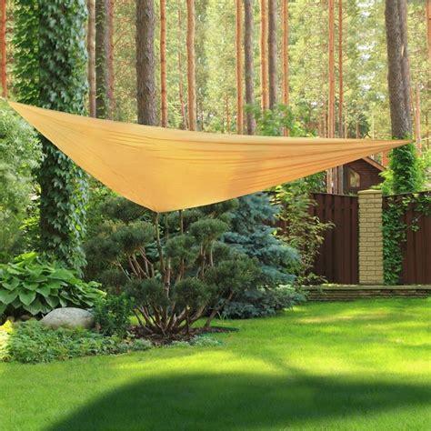teli ombreggianti giardino vele ombreggianti triangolari da giardino in poliestere beige