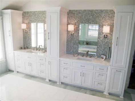 Mirror Backsplash Kitchen mounted linen towers bathroom traditional with tile floor