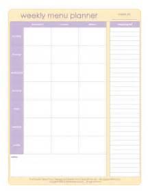 weekly dinner menu planner template 20 free menu planner printables fab n free