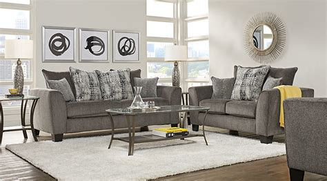Grey Sofa And Loveseat Sets Austwell Gray 5 Pc Living Room Living Room Sets Gray