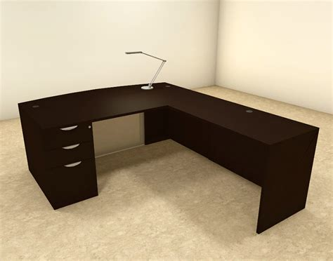 L Shaped Contemporary Desk 3pc L Shaped Modern Contemporary Executive Office Desk Set Of Con L65 Ebay