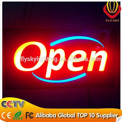 alibaba quality control alibaba express self design oem allowed resin led sign