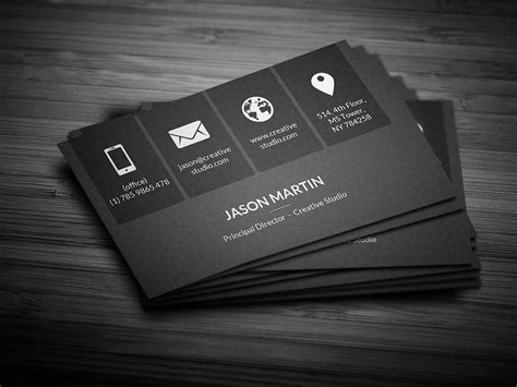Metro Dark Corporate Business Card Business Card Templates Creative Market Buisness Card Template