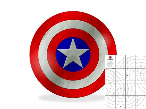 captain america shield template template for simple flat captain america shield the foam