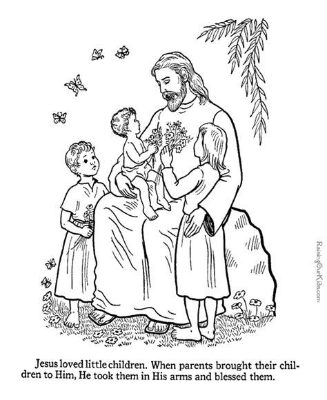coloring page of jesus teaching jesus loves the little children coloring pages coloring home