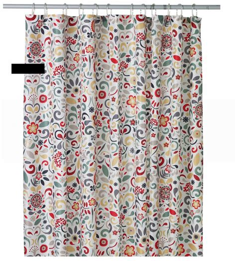 scandinavian shower curtain ikea akerkulla scandinavian floral fabric shower curtain