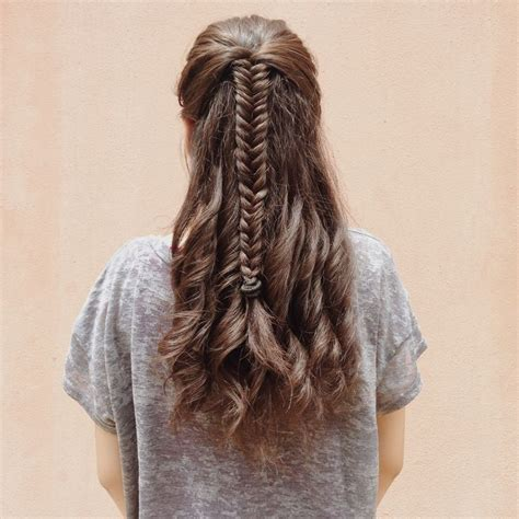 fishtail braids with corn rows fishtail braid with curls for medium to long hair