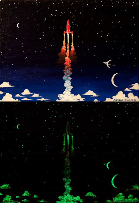 glow in the painting adamwinsor glow in the rocket