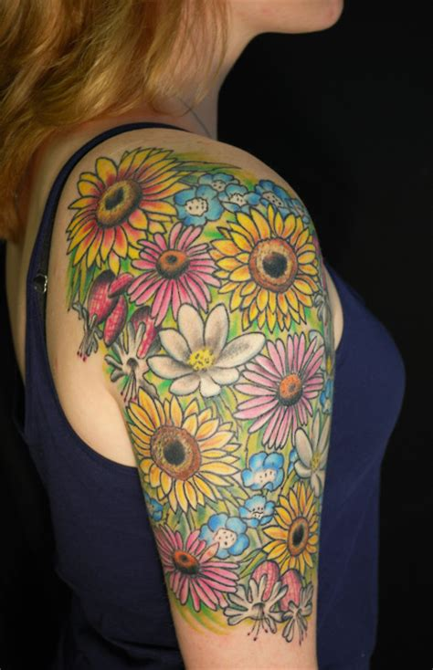 tattoo flower half sleeves pictures of sleeve tattoos