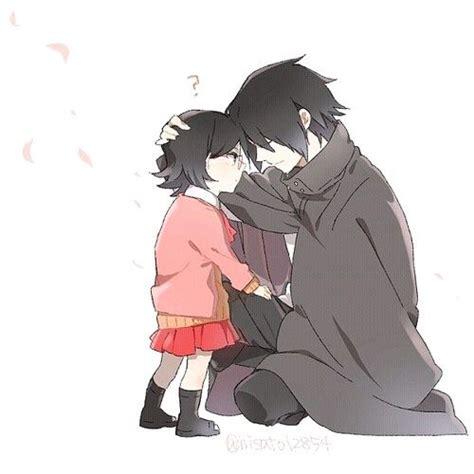 Being Luckyand Sarada by Sasuke And Sarada Aww I How Gentle And Loving He