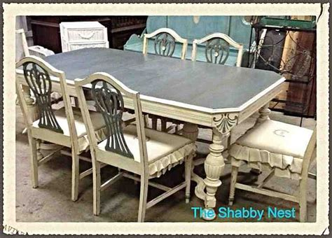 painted dining room set dining room set chalk milk paint redo