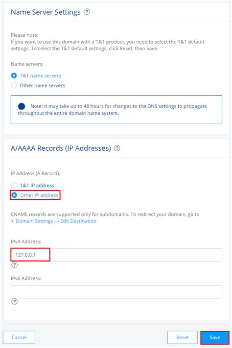 Mail Server Ip Address Lookup Change Your Domain S Ip Address A Record 1 1 Help Center