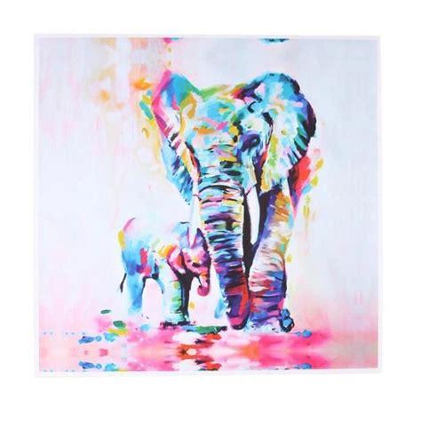 Canvas Painting For Home Decoration by Mode Aquarelle Elephant Oil Color 233 Moderne Peinture