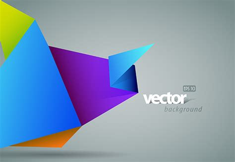 Paper Folds Graphic Design - color origami vector background welovesolo