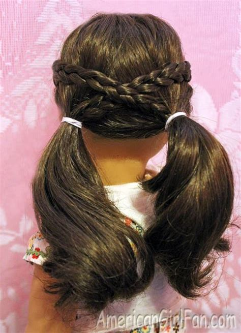 hairstyles for american girl dolls with long hair cross over pigtails doll hairdo pinterest i am