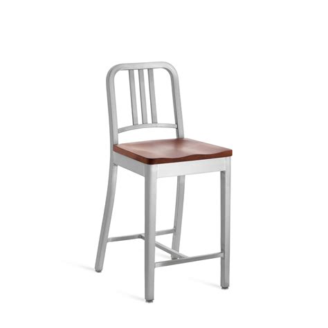 Emeco Navy Stool by Emeco Navy Counter Stool With Wood Seat Gr Shop