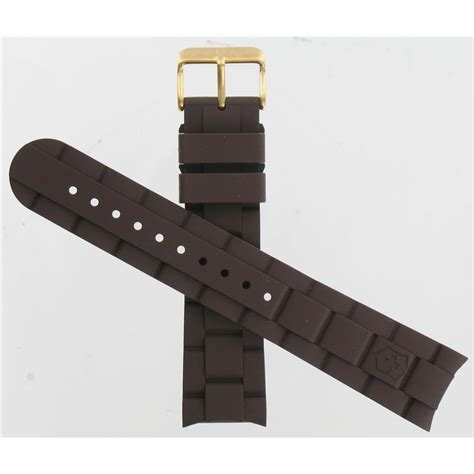 Swiss Army Rubber swiss army brand 22mm large brown rubber maverick series