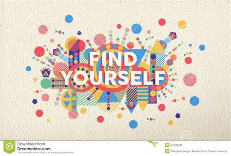 design by yourself find yourself quote poster design background stock vector