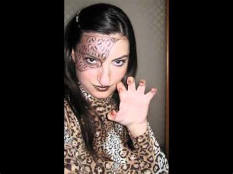 trucco prato fiorito donna leopardo