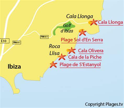 0004488962 carte touristique ibiza and cala llonga 224 santa eularia des riu ibiza bal 233 ares