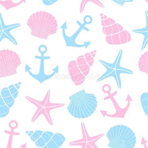Cute Nautical Pattern | cute marine life background nautical seamless pattern