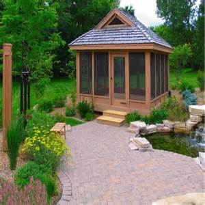 backyard screened gazebo write