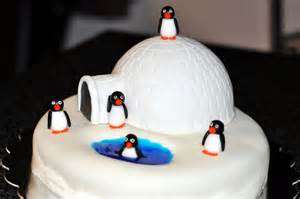 iglu kuchen penguins igloo cake pinnutty