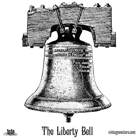 vector art the liberty bell vintage vectors