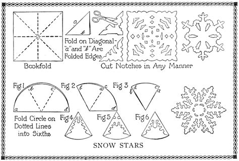 How To Make A Paper Snow Flake - shabby in snowflake pattern ideas