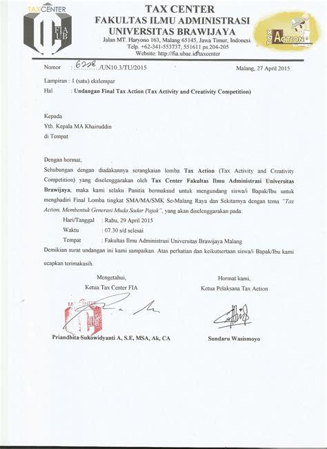 format penulisan skripsi fia ub tax center 187 surat undangan finalis tax action
